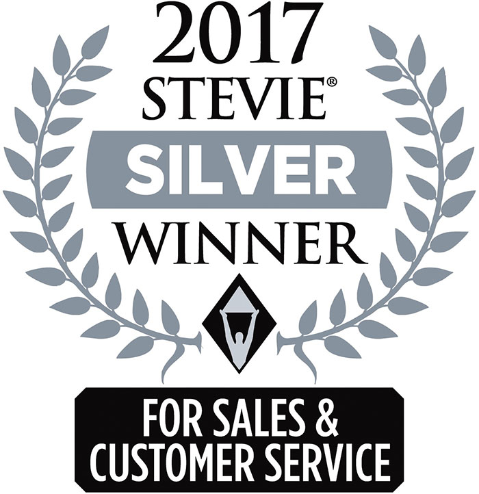2017 Stevie Silver Winner For Sales & Customer Service