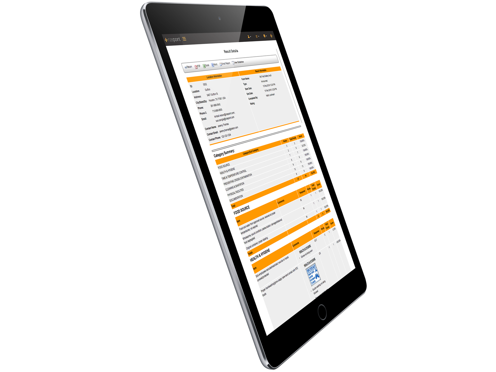 Feedback Reports Tablet