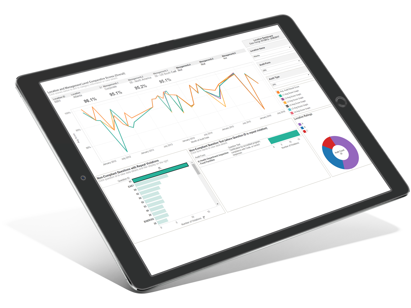 RizePoint Inspect Analytics LP iPad Banner